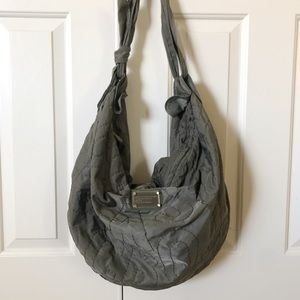 Marc by Marc Jacobs Preppy XL Grey Hobo Purse Bag